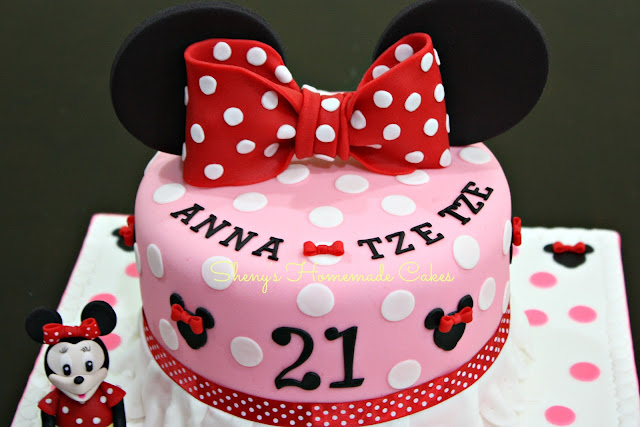 21st birthday cake for a young lady who loves minnie mouse cake ...
