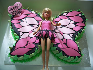 Barbie cakes for children parties
