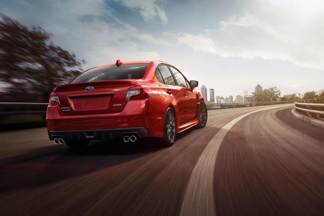 2015 Comvetible Subaru WRX performance back view