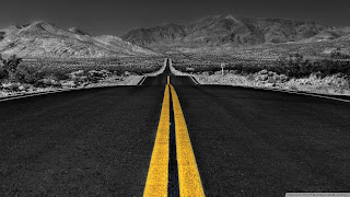 Road between Mountain free backgrounds