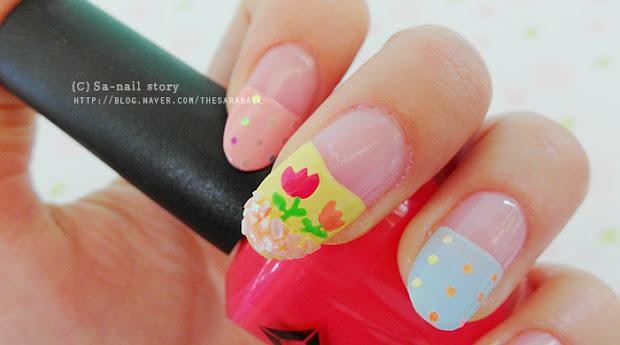 sara nail spring tulip power