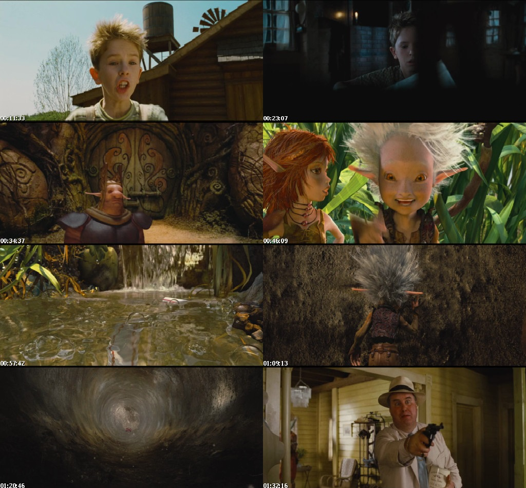 Screen Shot Of Arthur and the Invisibles 2006 In Hindi English Dual Audio Bluray