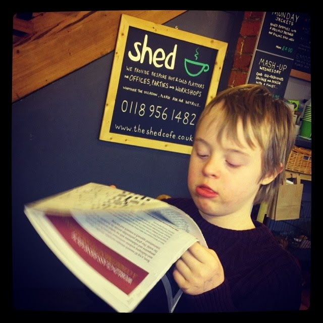 Kyd, Cafe, independance, Shed, Reading, Down Syndrome, Customer, my life my son my way,