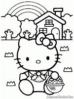 Hello Kitty Pulang Memetik Buah Dikebun
