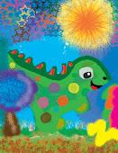 Cuando despertó, el dinosaurio todavía estaba allí...