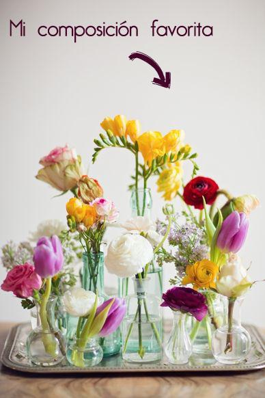 composición de flores silvestres