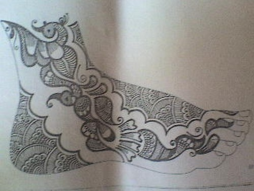 Easy Mehndi Patterns On Paper : Mehndi designs for hands on paper makedes