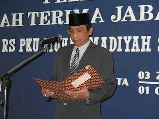 Direktur RS PKU Muhammadiyah Surakarta dr.Mardiyatmo, Sp. Rad