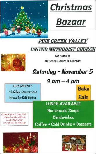 11-5 Christmas Bazaar, Pine Creek