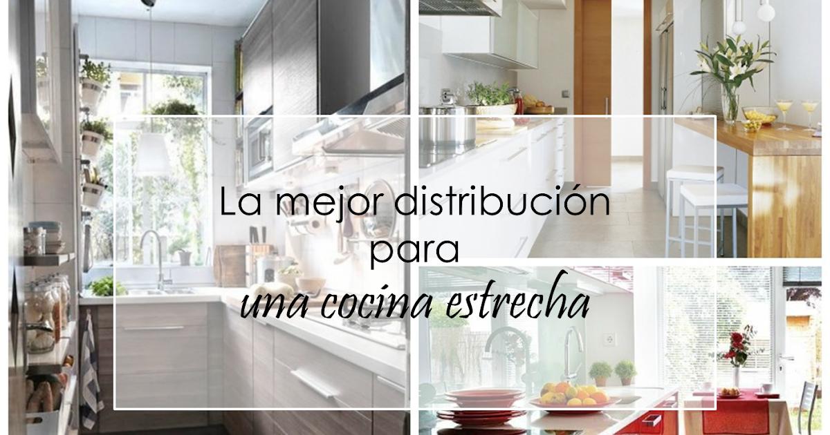 Decoración Fácil: La mejor distribución para una cocina estrecha.