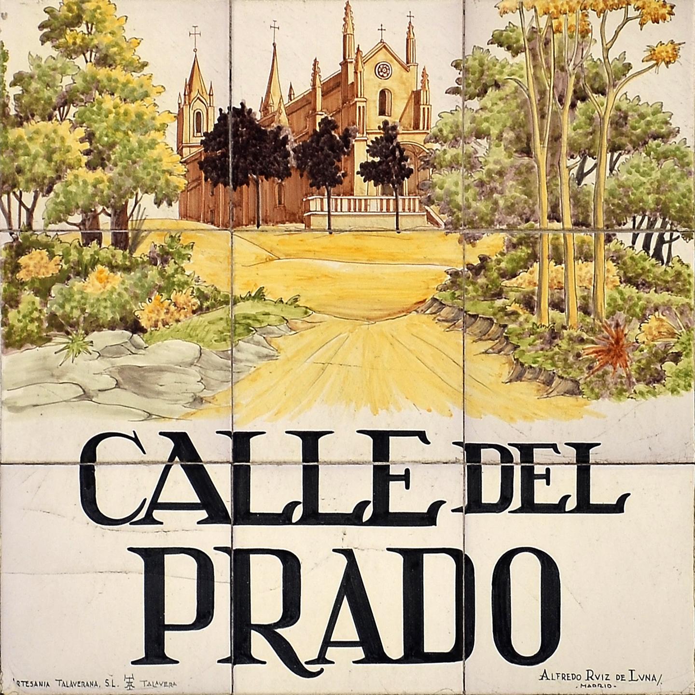 Placas e historia de las calles de madrid azulejos de for Calle prado jerez madrid