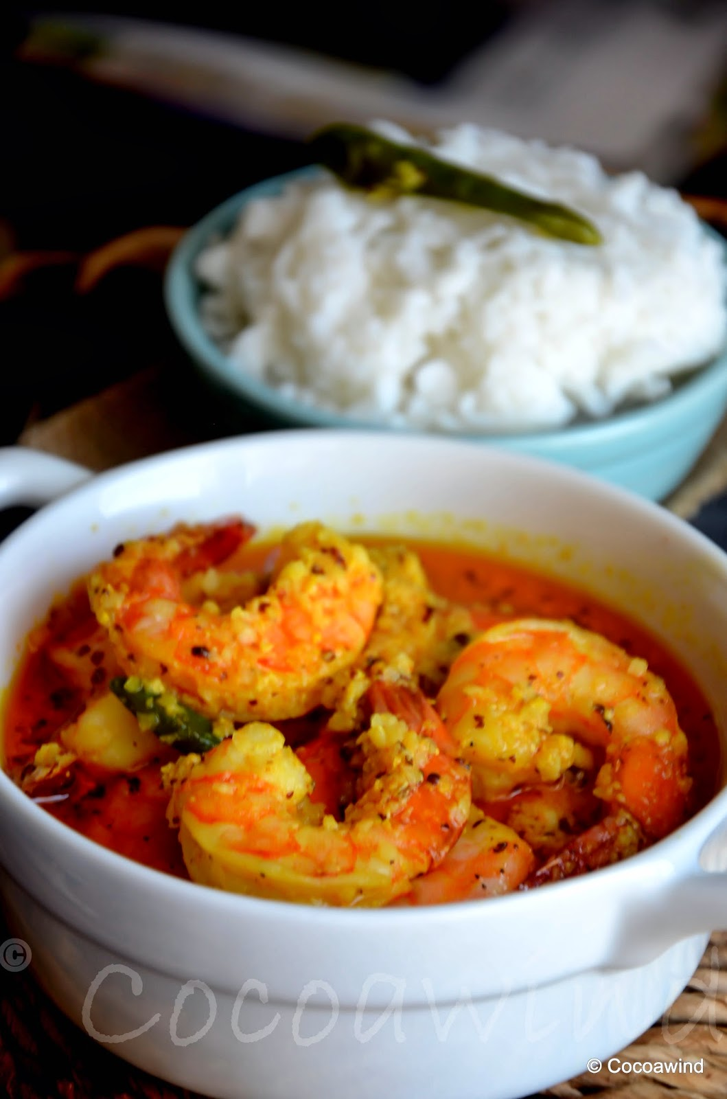Bhapa Sorshe Chingri: Steamed Shrimps in Mustard Gravy