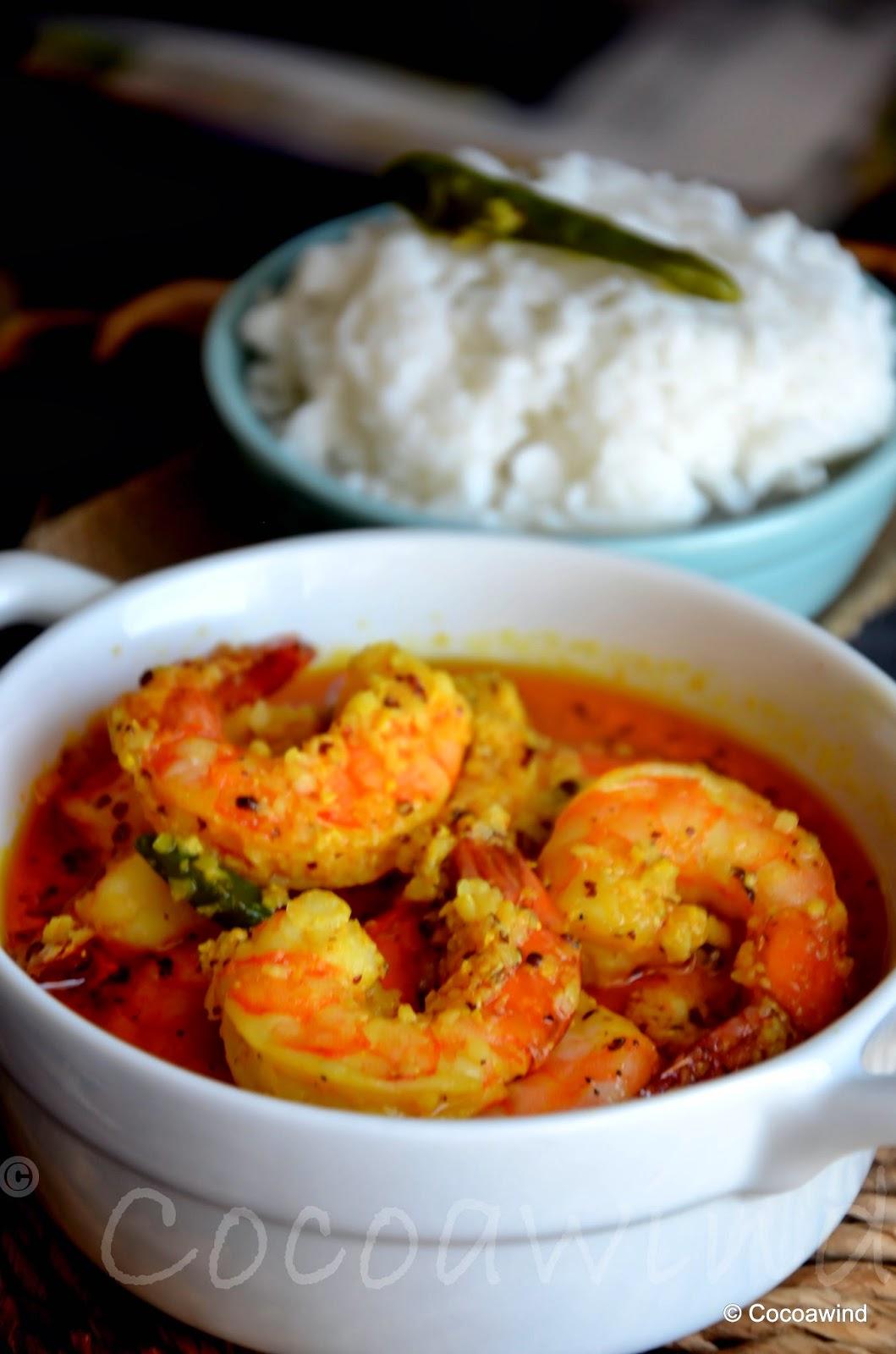 Bhapa Sorshe Chingri: Steamed Shrimps in Mustard Gravy