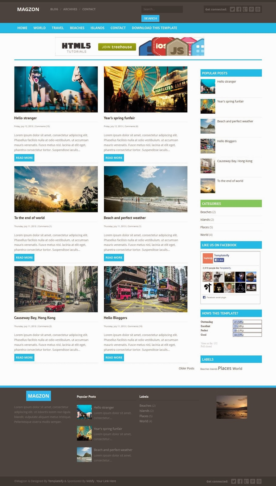 Top best Responsive Blogger templates Blogspot xml templates: Magzon ...