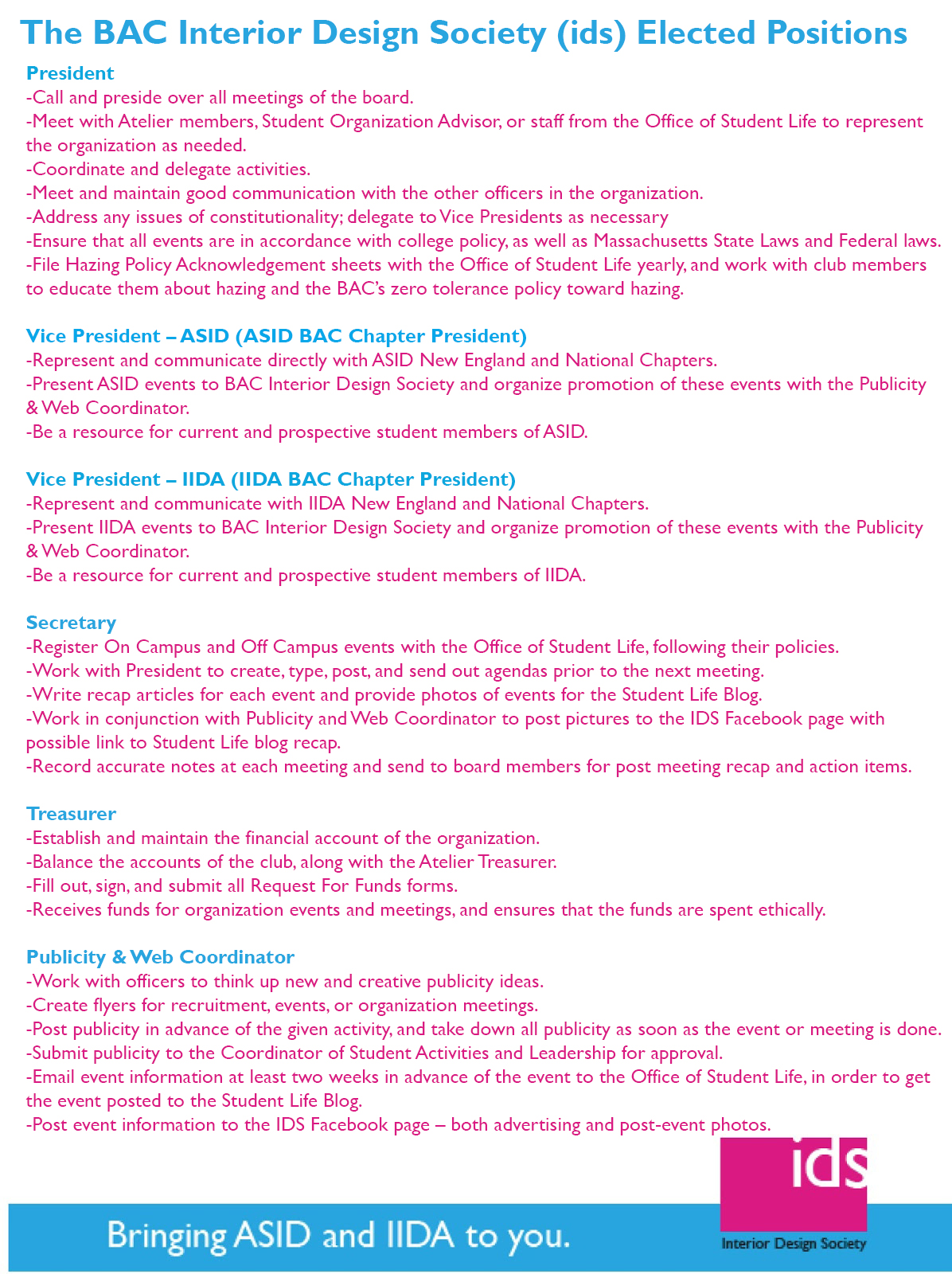 For A Detailed Description Of Each Of These Roles, Click The Above Jpg. For  Information About Eligibility, Click The Jpg Below.