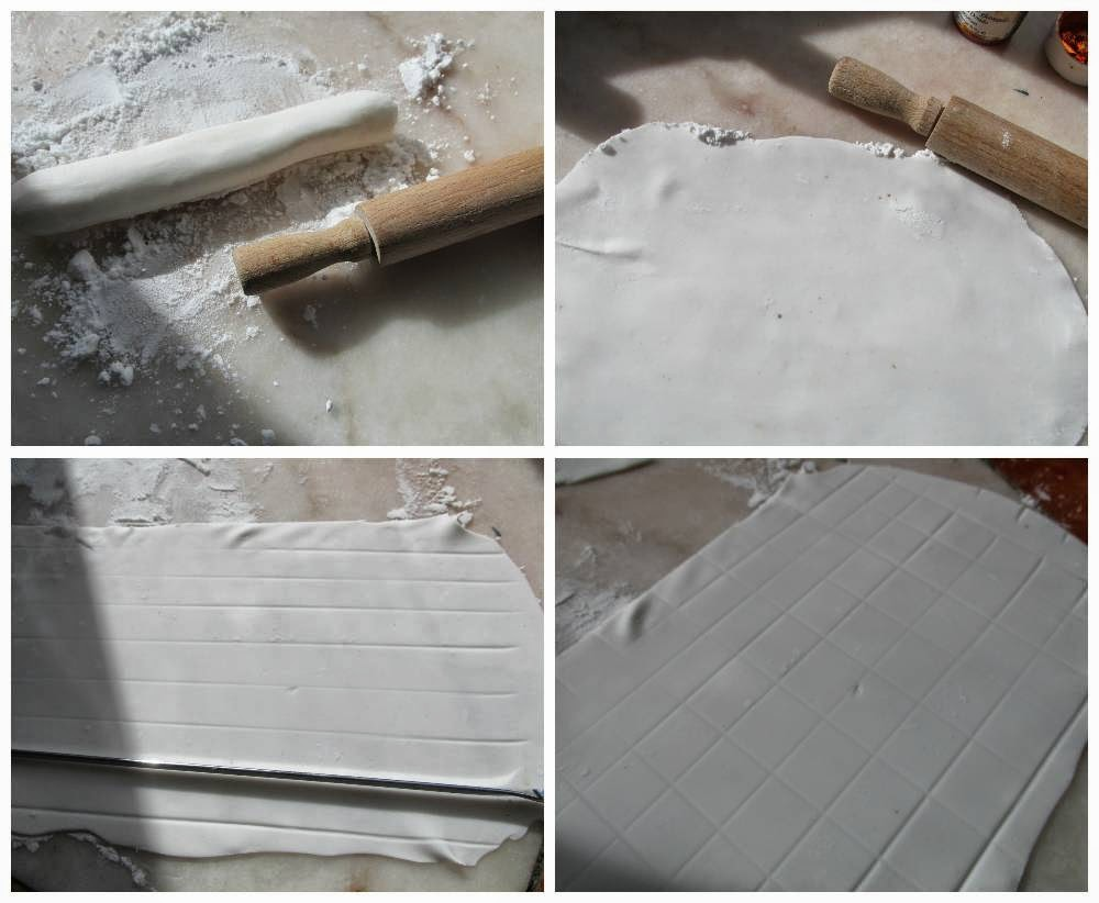 how to make off white fondant