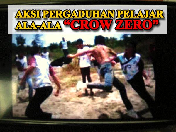 Pelajar Sekolah Bergaduh Ala Crow Zero