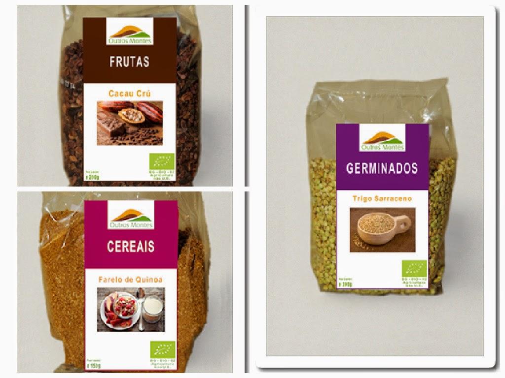 quinoa, cacau cru, trigo
