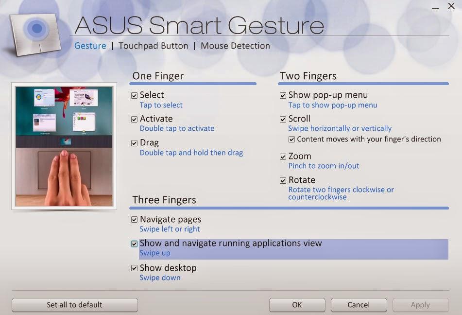 Fitur Smart Gesture pada Laptop Asus,terbaru,versi,komputer,pc