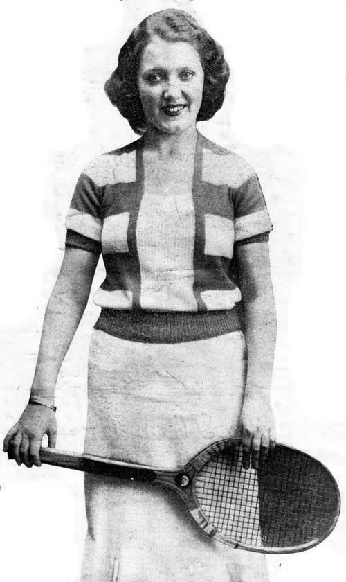 Free Knitting pattern 1930's - Striped Sweater
