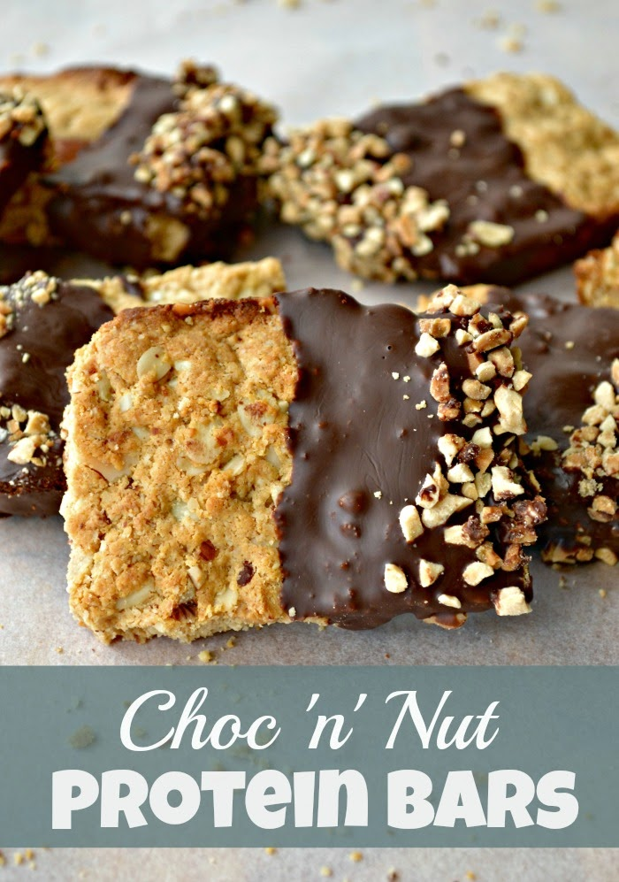 Healthy Homemade Chocolate and Nut Protein Bars