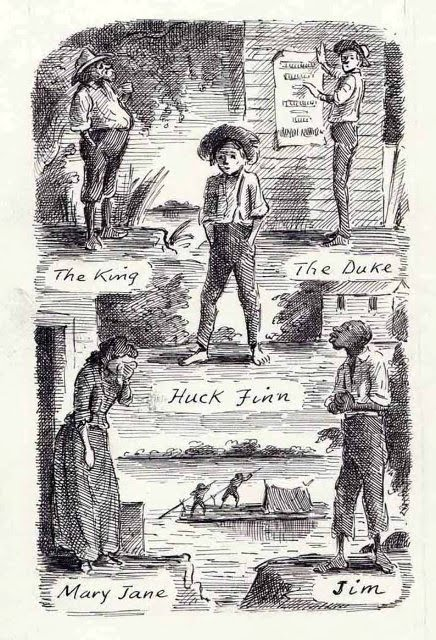 racism in the adventures of huckleberry Huckleberry finn himself narrates the adventures down the mississippi river,  and his  calling blacks the n-word reveals deep-seated prejudice and racism.