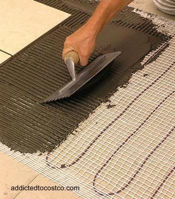 Calefacción doméstica por piso radiante manto eléctrico