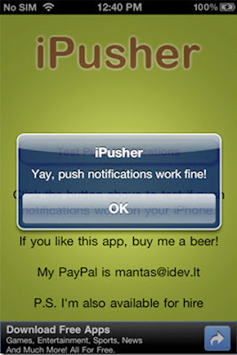 ipusher iphone working