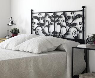 Cabezal cama forja