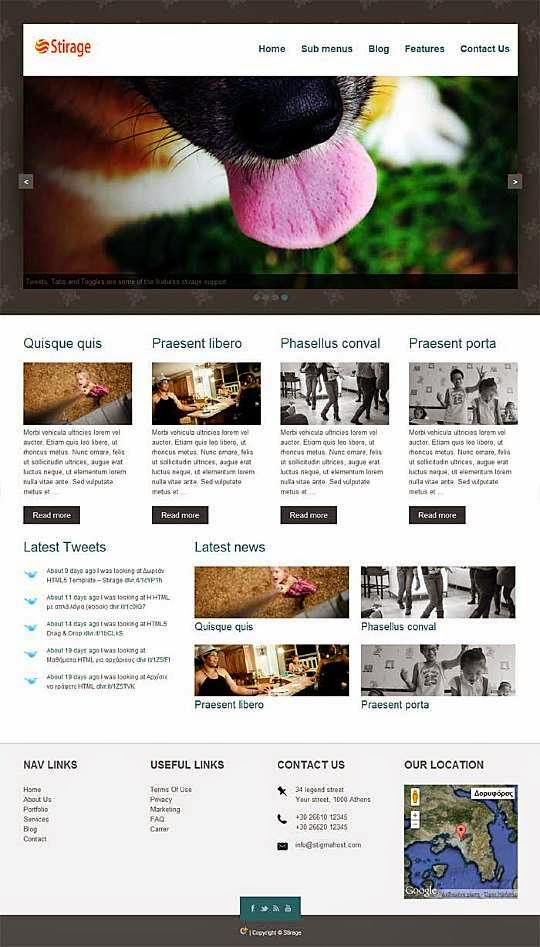 Stirage WP - Free Wordpress Theme