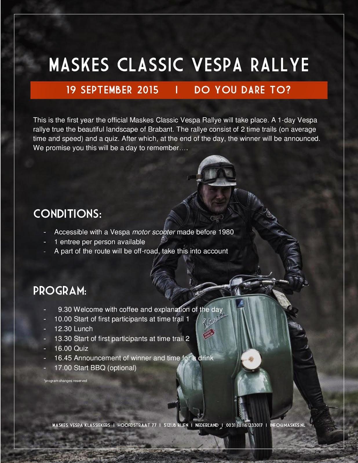 Maskes classic vespa rally