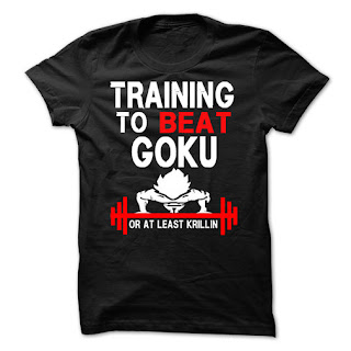 funny training to beat Goku or at least Krillin t-shirt