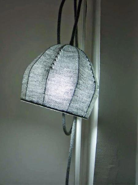 Przepiękny ażurowy abażur zrobiony na drutach
