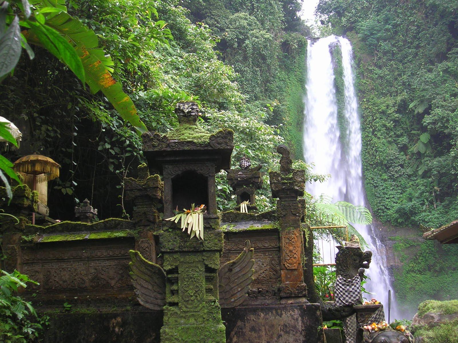 Cascada de Git Git, Isla de Bali,Indonesia, vuelta al mundo, round the world, La vuelta al mundo de Asun y Ricardo