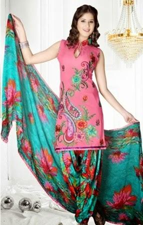 Latest Casual Wear Patiala Dresses