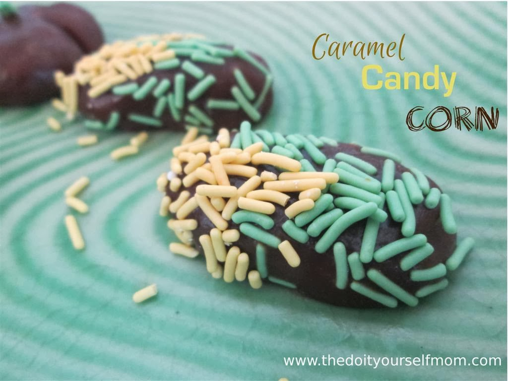 The Do-It-Yourself Mom: DIY Caramel Candy Corn and Pumpkins