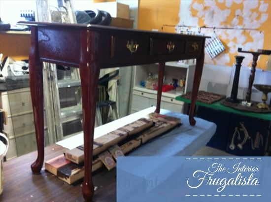 Turquoise Sofa Table Originally