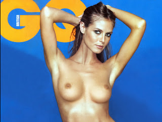 Heidi Klum full frontal naked in GQ magazine UHQ