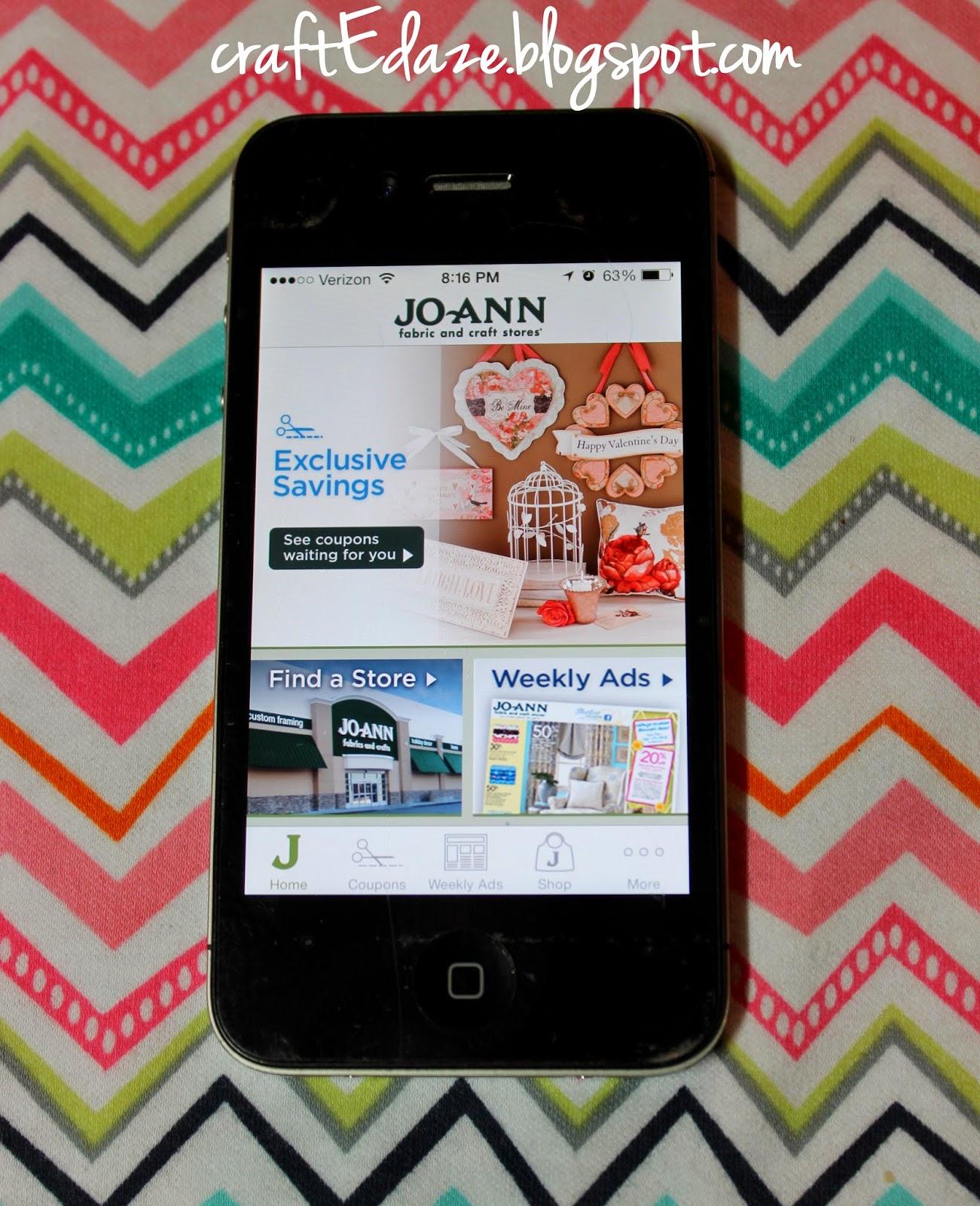 Joann fabrics coupons mobile