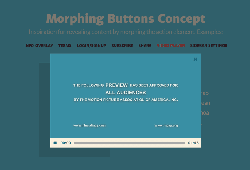 Morphing Buttons