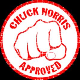 Chuck Norris aprueba este Blog