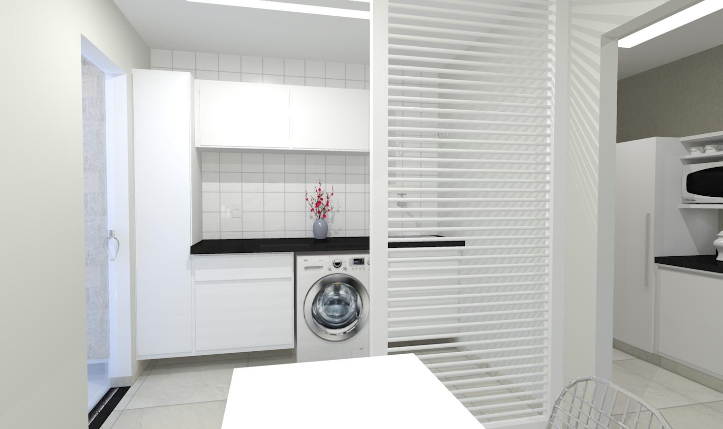 Top Cozinha Com Lavanderia E. Modelo Divisria De Vidro Entre Cozinha E  AE07