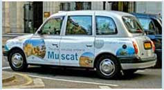 colourful London taxi cab 2