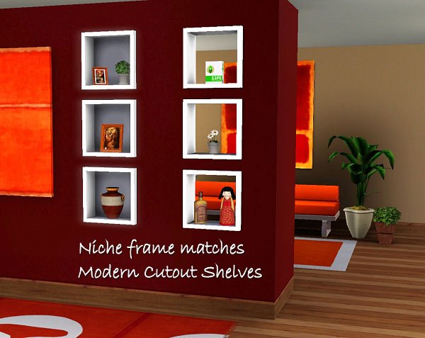 My Sims 3 Blog Inset Wall Niches 2 To Match Decorative
