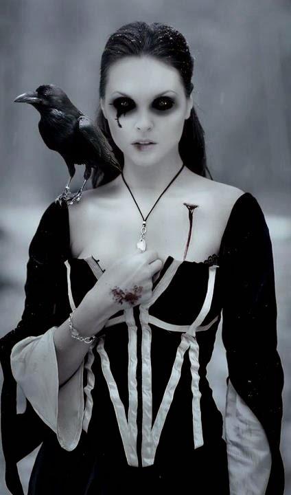 bruja maquillaje oscuro