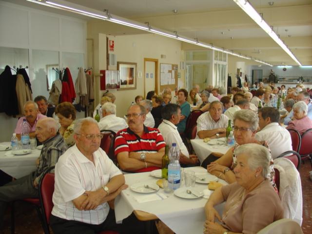 celebracion, comida de centro  de dia, imagen de archivo