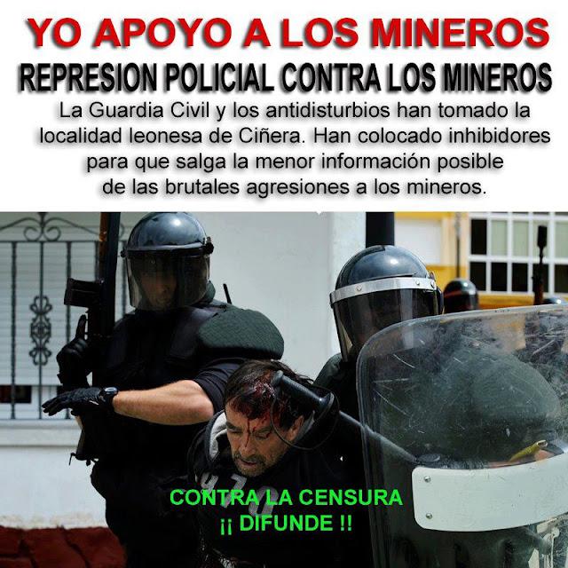 Los robocops imponiendo la fuerza bruta contra trabajadores en huelga.