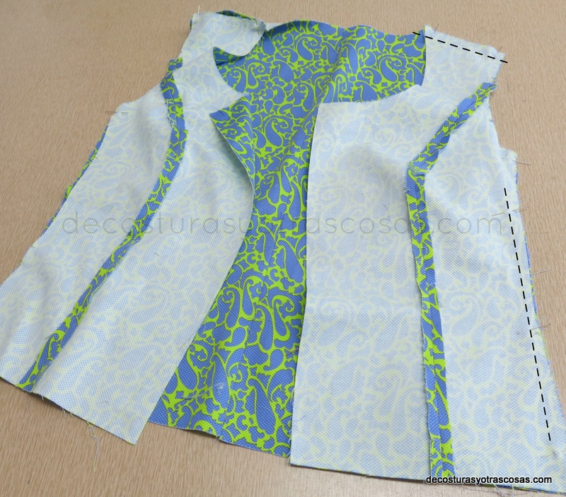 como coser una chaqueta-blusa