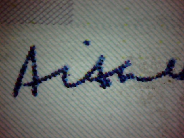 "Fig 3 : The fake AAH ""Aishah"" Signature"