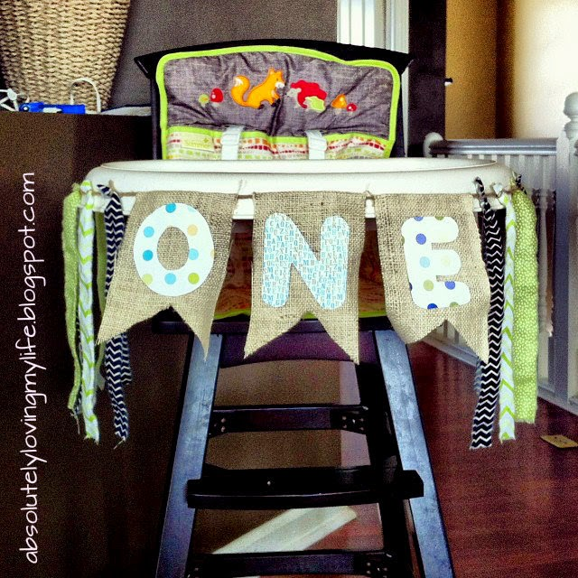 loving life diy little boy highchair banner for first